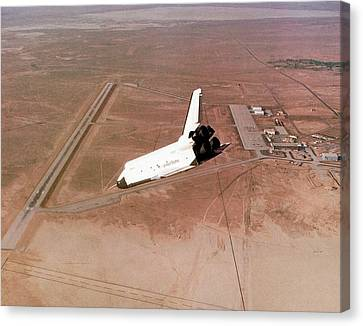Space Shuttle Prototype Testing Canvas Print