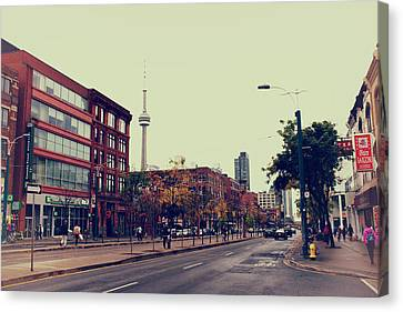 Spadina Avenue In Toronto Canvas Print by Tanya Harrison