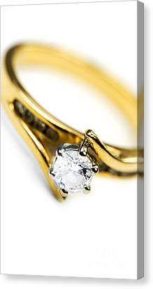 Sparkling Diamond Engagement Ring Canvas Print by Jorgo Photography - Wall Art Gallery