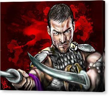 Spartacus Blood And Sand Canvas Print by Vinny John Usuriello