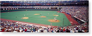 Philadelphia Phillies Stadium Canvas Print - Spectator Watching A Baseball Match by Panoramic Images