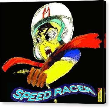 Speed Racer Canvas Print by Jazzboy