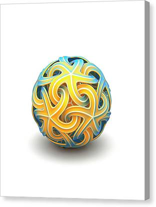 Platonic Canvas Print - Sphere Of Interlocking Geometries by David Parker