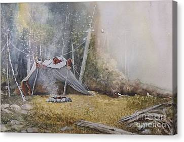 Spike Camp Canvas Print by Lynne Parker