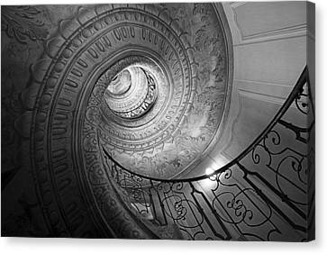 Spiral Staircase Canvas Print by Chevy Fleet