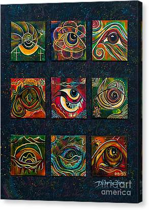 Canvas Print featuring the painting Spirit Eye Collection II by Deborha Kerr