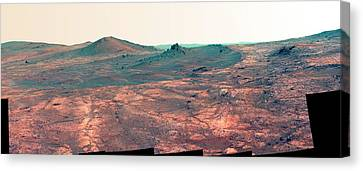 False-colour Canvas Print - Spirit Of St. Louis Crater by Nasa/jpl-caltech/cornell Univ./arizona State Univ.