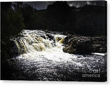Lush Colors Canvas Print - Splashing Australian Water Stream Or Waterfall by Jorgo Photography - Wall Art Gallery