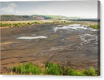 Spoil Left By Open Cast Coal Mining Canvas Print