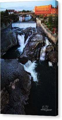 Spokane Falls Canvas Print by Dan Quam