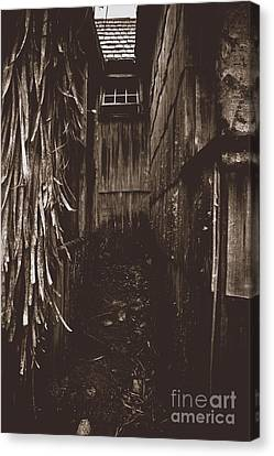 Spooky Early Settlers Rundown Country House Canvas Print by Jorgo Photography - Wall Art Gallery