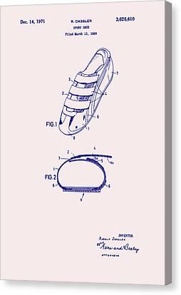 Sport Shoe Patent 1971 Canvas Print