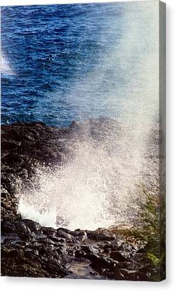 Canvas Print featuring the photograph Spouting Horn by Alohi Fujimoto