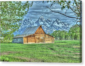 Spring Barn Canvas Print