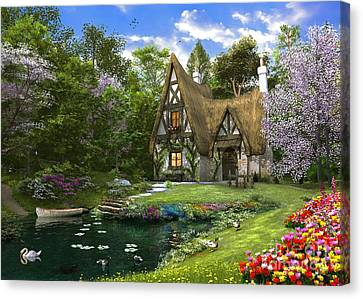 Spring Lake Cottage Canvas Print