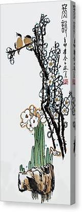 Canvas Print featuring the photograph Spring Melody by Yufeng Wang