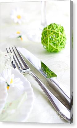 Spring Table Setting Canvas Print by Mythja  Photography