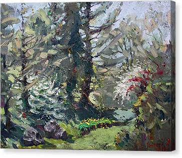 Blooming Trees Canvas Print - Spring 2014 by Ylli Haruni
