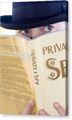 Hiding Canvas Print - Spying Private Eye by Jorgo Photography - Wall Art Gallery