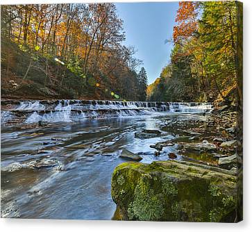Squaw Rock - Chagrin River Falls Canvas Print