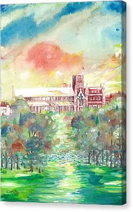 St Albans Abbey - Sunset Canvas Print by Giovanni Caputo