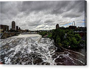 St Anthony Falls Canvas Print by Amanda Stadther