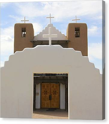 St. Jerome Chapel - Taos Pueblo Canvas Print by Mike McGlothlen