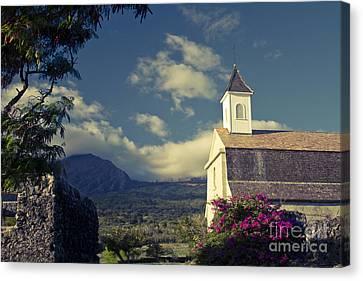 St. Joseph Catholic Church Kaupo Maui Hawaii Canvas Print by Sharon Mau