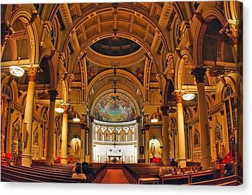 St. Leonard's Church....boston Canvas Print by Joann Vitali