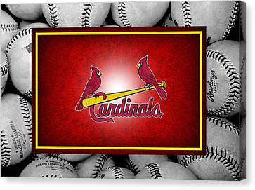 Baseball Fields Canvas Print - St Louis Cardinals by Joe Hamilton