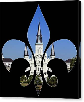 St Louis Cathedral Canvas Print by Cecil Fuselier