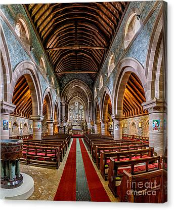 Red Roof Canvas Print - St Mary by Adrian Evans