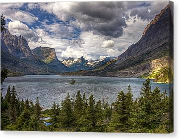 St. Mary's Lake Canvas Print