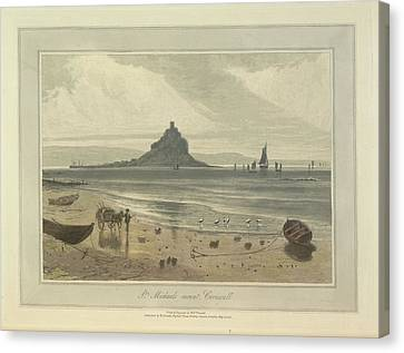 St. Michaels Mount Canvas Print by British Library