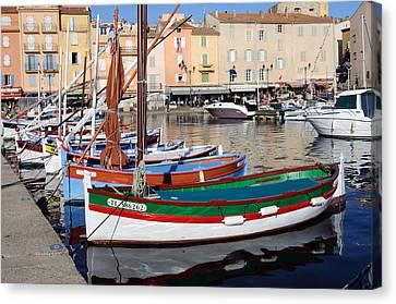 Canvas Print featuring the photograph St. Tropez - France by Haleh Mahbod