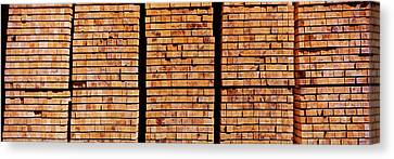 Stack Of Lumber At Sawmill, Eureka Canvas Print by Panoramic Images