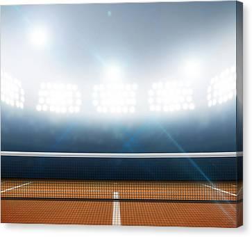 Stadium And Tennis Court Canvas Print by Allan Swart