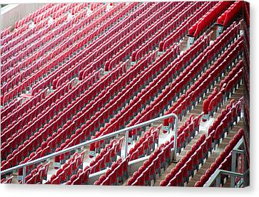 Stadium Seats Canvas Print by Frank Gaertner