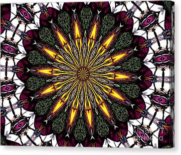 Canvas Print featuring the photograph Stained Glass Kaleidoscope 1 by Rose Santuci-Sofranko