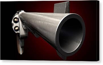 Staring Down The Barrel Of A Gun Canvas Print by Allan Swart