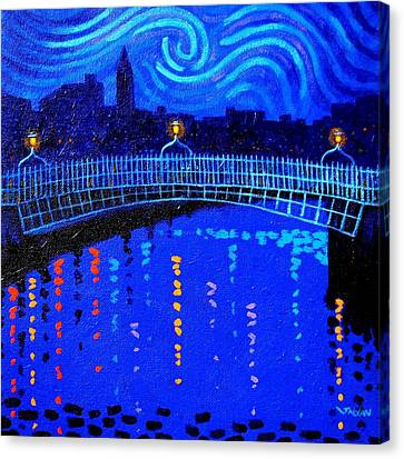 Starry Canvas Print - Starry Night In Dublin by John  Nolan