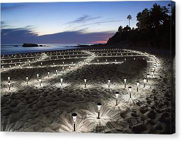 Stars On The Sand Canvas Print