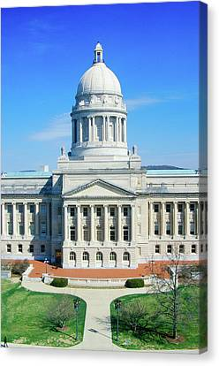 State Capitol Of Arkansas, Little Rock Canvas Print