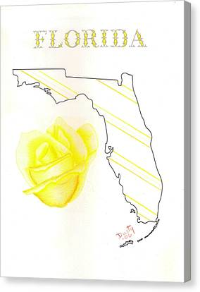 State Of Florida Canvas Print by Dusty Reed