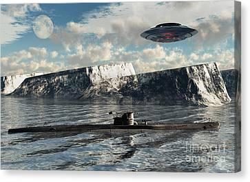 Station 211 Is A Nazialien Secret Base Canvas Print by Mark Stevenson
