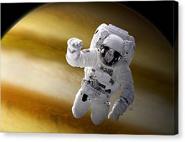 Outer Space Canvas Print - Station Work No.4 by Marc Ward