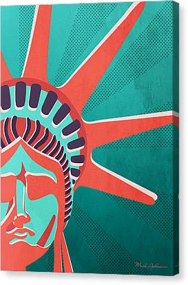 Statue Of Liberty  Canvas Print by Mark Ashkenazi