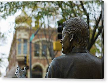 Statue Of Us President Bill Clinton Canvas Print by Panoramic Images