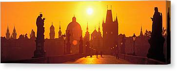 Statues Along A Bridge, Charles Bridge Canvas Print