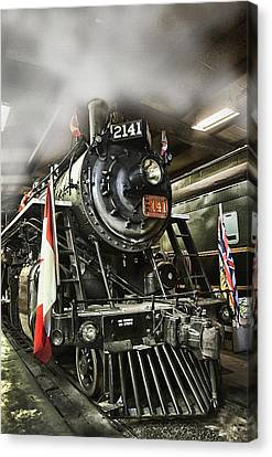 Steam Locomotive 2141 Canvas Print